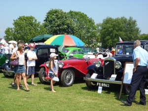 vintage cars at fete