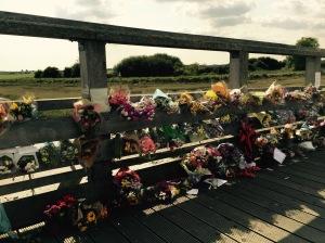 bridge with flowers