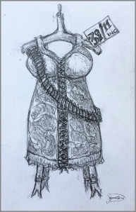 drawing of corset