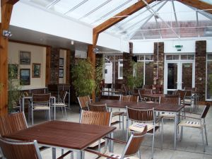 Conservatory for meals, Blue Bell Hotel, Burton Agnes