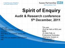 Spirit of Enquiry flyer image